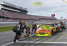 Pont-Gruben-Anschlag NASCAR sprinten Cup-Serien Stockbild