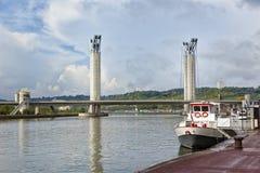 Pont Gustave-Flaubert at Rouen, France Royalty Free Stock Images