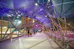 Pont hélicoïdal Singapour Photo libre de droits