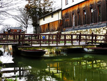 Pont, Hachiman-bori, l'OMI-Hachiman, Japon Images stock
