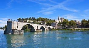Pont heilige-Bénézet, Avignon, Frankrijk stock foto's