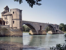 Pont Heiliges-Benezet in Avignon stockfotografie