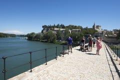 Pont helgon-Bénézet, Avignon, Frankrike Arkivbild
