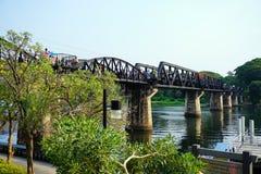 Pont historique de Kwai de rivière Photo libre de droits