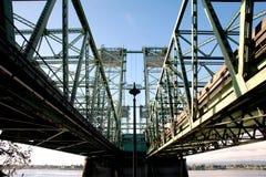 Pont I5 au-dessus du fleuve Columbia Photo libre de droits