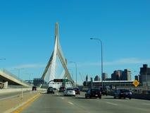 Pont I-93 en colline de soute de Boston Photos libres de droits