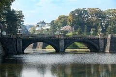 Pont impérial de palais et de Nijubashi de Tokyo, Japon Photo stock