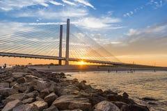 Pont indien de rivière d'admission images stock