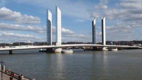Pont Jacques Chaban-Delmas. Over Garonne - Bordeaux - France Stock Photo