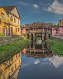 Pont japonais antique en Hoi An Vietnam Photographie stock libre de droits