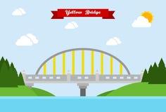 Pont jaune Photos libres de droits