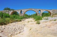 Pont Julien. A roman bridge in Provence Royalty Free Stock Image