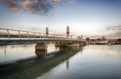 Pont jumeau en voiles Photo libre de droits