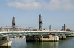 Pont jumeau en voiles, Poole Photographie stock