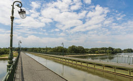 Pont Kanal de Briare royaltyfri foto