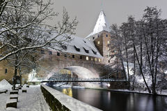 Pont Kettensteg, Nuremberg Photographie stock