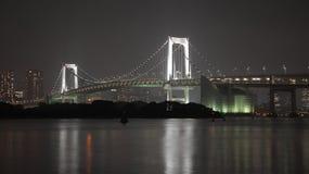 Pont la nuit image stock