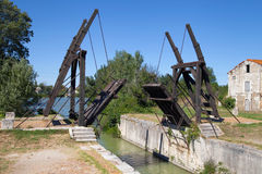 Pont Langlois. A drawbridge in Arles, Provence, France Stock Photo
