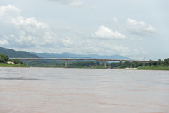 Pont Laos et Thaïlande d'amitié Photo libre de droits