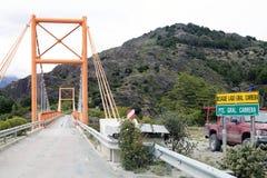 Pont le long du Carretera austral, Patagonia, Chili Photographie stock libre de droits