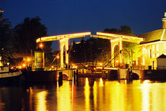 Pont-levis à Amsterdam Images libres de droits