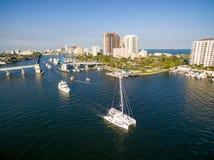 Pont-levis dans le Fort Lauderdale Images libres de droits