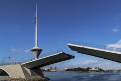 Pont-levis de Manga del Mar Menor image stock