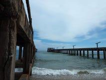 Pont local de pêcheur Photo stock