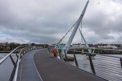 Pont Londonderry Irlande du Nord de paix Photographie stock libre de droits