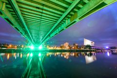 Pont Manchester R-U de millénaire photos stock