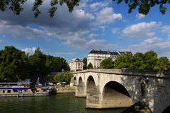Pont Marie bridge. Royalty Free Stock Images