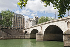 Pont Marie over the seine river in the center of Paris Stock Photos