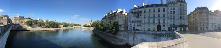 Pont Marie panorama, Paris Royalty Free Stock Photography