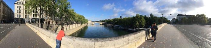 Pont Marie panorama, Paris Stock Images