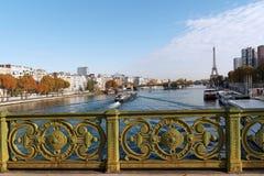 Pont Mirabeau  bridge in Paris Royalty Free Stock Photo