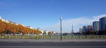 Pont Mirabeau  bridge in Paris Stock Photo