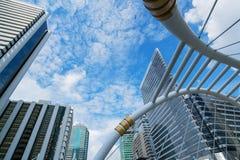 Pont moderne à Bangkok Photo stock