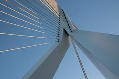 Pont moderne à Rotterdam Images libres de droits