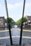 Pont néerlandais à Amsterdam image libre de droits