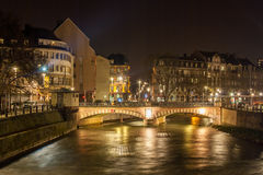 Pont National over Ill river in Strasbourg Stock Photo
