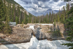 Pont naturel de lac vert Image stock