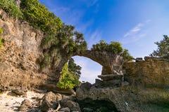 Pont naturel de roche d'île de Neills image libre de droits