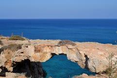 Pont naturel en Chypre Photos libres de droits