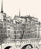 Pont Neuf在巴黎 免版税库存图片