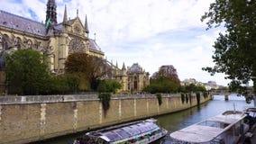 Pont Neuf, Париж, Франция сток-видео