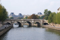 Pont Neuf. Panoramic view of the Pont Neuf Stock Images