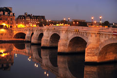Pont Neuf. (New Bridge) in the dawn, Paris, France Stock Photos
