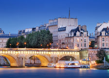 Pont Neuf. The Pont Neuf (New Bridge), the oldest standing bridge across the river Seine in Paris, France Stock Image