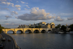 Pont Neuf across the Seine Royalty Free Stock Photos