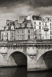 Pont Neuf. Bridge across the Seine river in Paris Royalty Free Stock Image